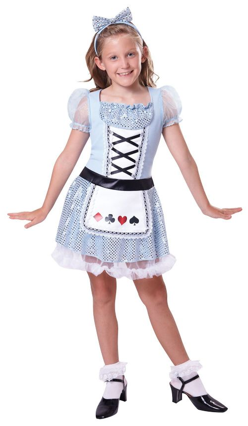 Girls Card Girl Costume Wonderland Fairytale Alice Party Decoration
